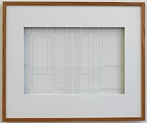 Thomas Böing: FZ 5 (TB/P 54), 2015, Thread Drawing, Framed, 29 x 44 cm