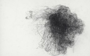 Hedwig Brouckaert, Untitled (A. AprilMay 2012) (HBR/P 6), 2012, Carbon Paper on Paper, 30 x 47 cm