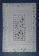 Stratis Tavlaridis: Untitled (White Carpet) (ST/P 3), Paper cut out, 65 x 46 cm