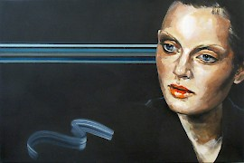 Martha Parsey: Martha Parsey, Out of the Blue, 2010, Oil on canvas, 90 x 60 cm,